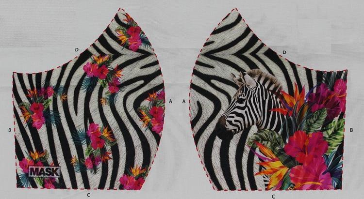 Zebra, tyg för ansiktsmask