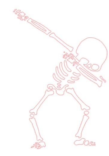 Dabbing Skeleton