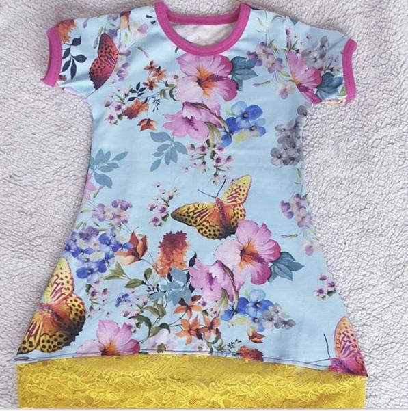 Tunika med Fjärilar stl. 86