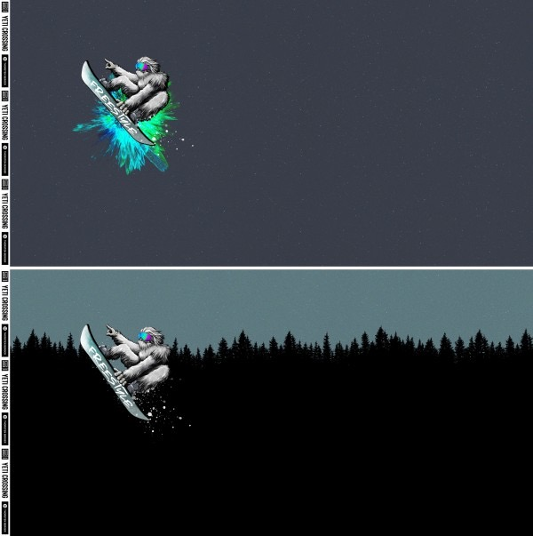 Yeti Crossing Skogen French terry panel