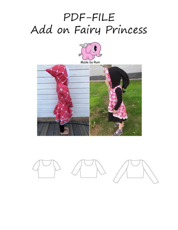 Made by Runi´s Add on till Fairy princess barn, stl. 80 - 164