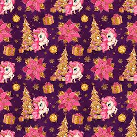Julenhörningar lila