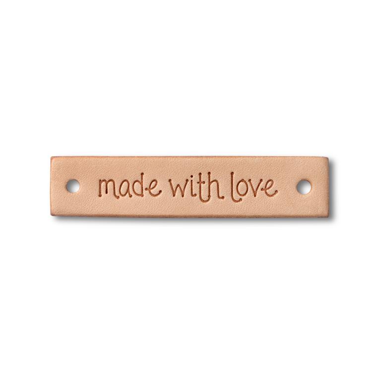 """Prym Lädermärke """"Made with Love"""""""