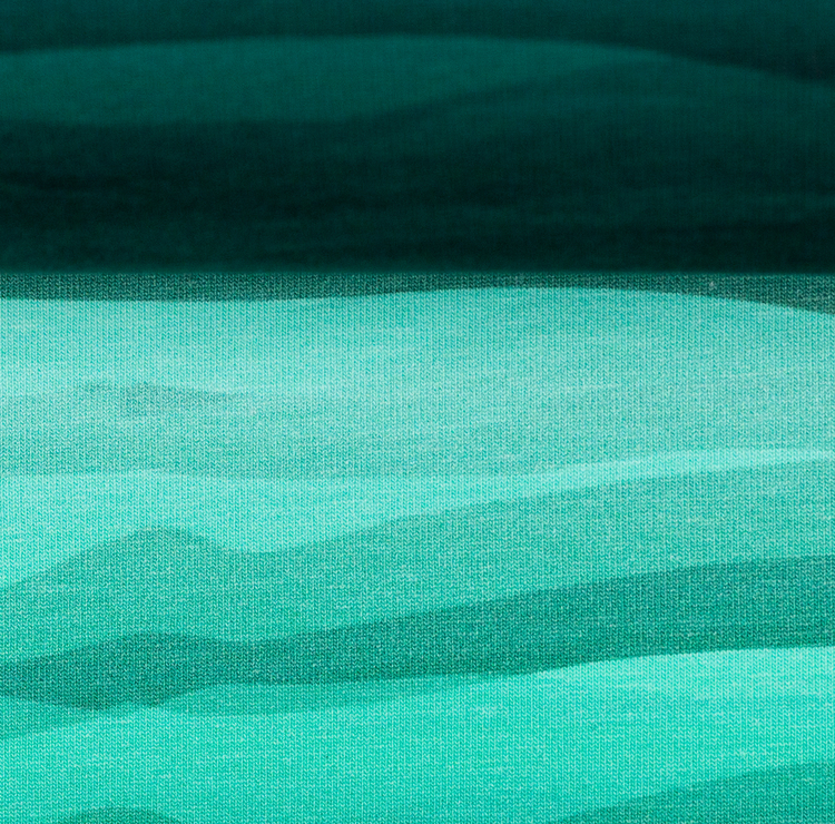 Wavy Stripes Teal/pastel mint green