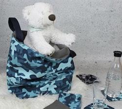 Fiete softshell Camouflage Blå/Teal