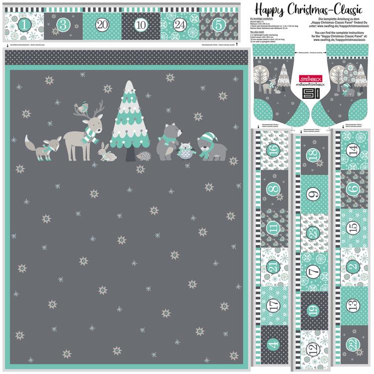 Adventskalender Happy Christmas Mintgrön