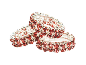 Mandekoration Crystal 20 pack Rosa