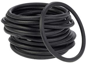 Silikon gummiband svarta