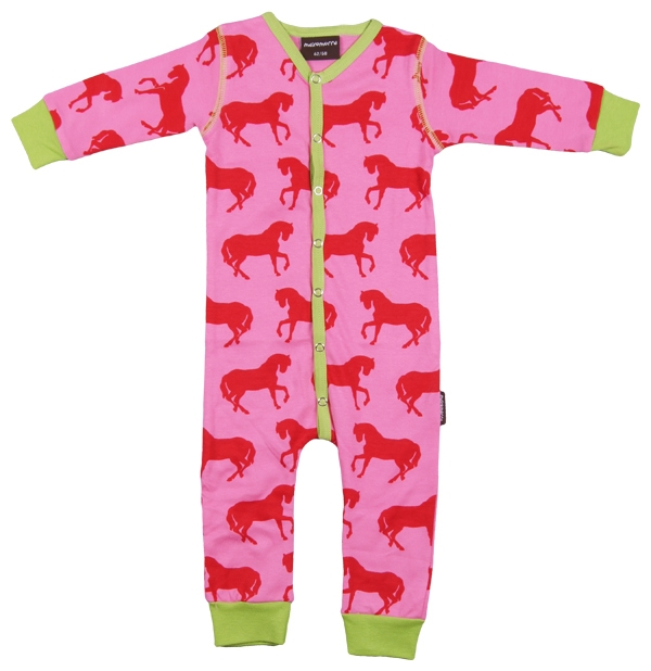 Pyjamas/Sparkdräkt Hästar Maxomorra