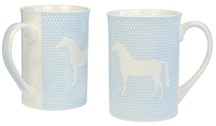 """Muggar """"Horse"""" blå 2 pack"""