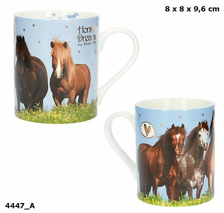 Horses Dreams Mugg med guldtryck
