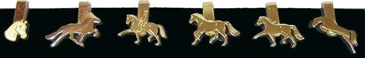 Drinkmarker Guld med hästmotiv
