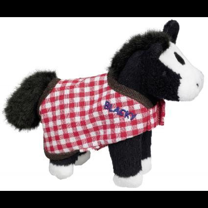 Hästen Blacky som gnäggar