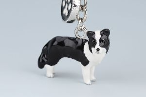Border Collie Nyckelring Doggy Love