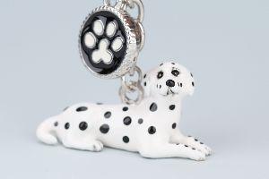 Dalmatiner Nyckelring Doggy Love