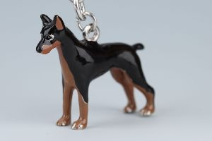 Miniatur Pinscher Nyckelring Doggy Love