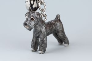 Schnauzer Nyckelring Doggy Love