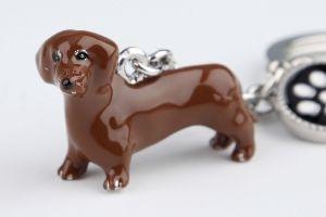 Tax Brun Nyckelring Doggy Love