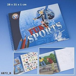 Fun Sports Målarbok