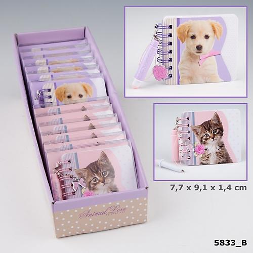 Miniblock penna Kitty & Doggy Love