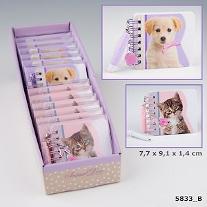 Miniblock penna Kitty & Doggy Love