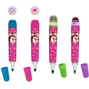 Färgpenna med stämpel