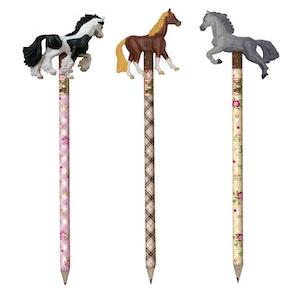 Blyertspenna med häst