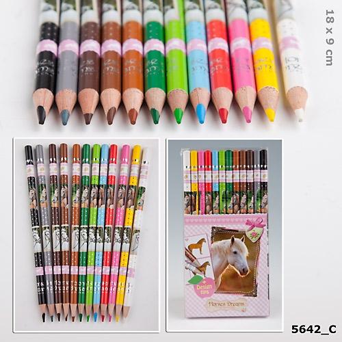 Färgpennor med hästmotiv