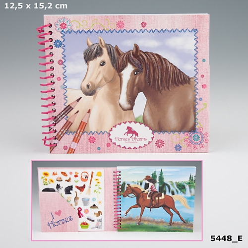 Fickmålarbok Horses Dreams (E)
