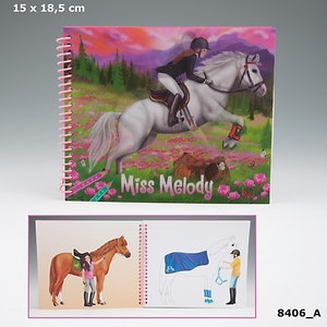 Miss Melody Dressup your horse Målarbok 3D