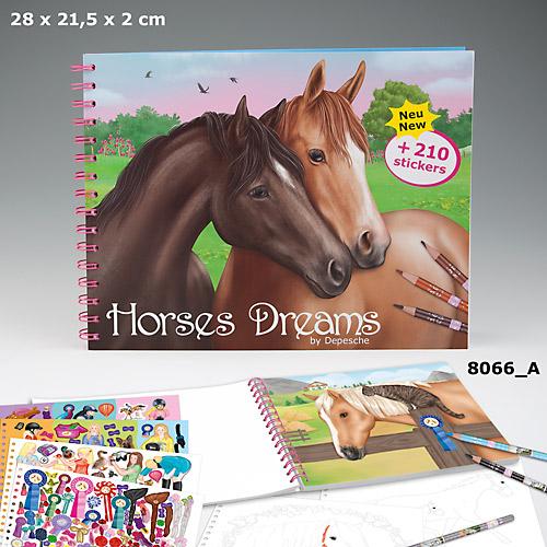 Horses Dreams Målarbok (A)