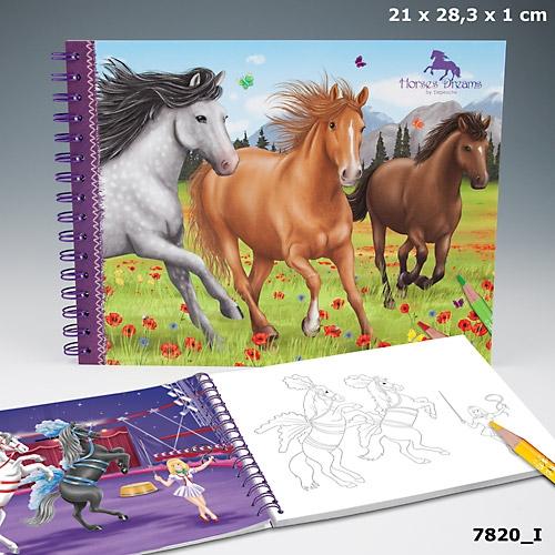 Horses Dreams Målarbok