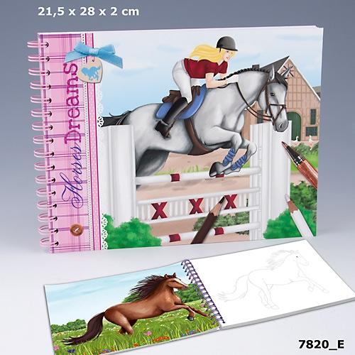 Horses Dreams Målarbok med hästmotiv