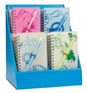 Anteckningsbok med penna