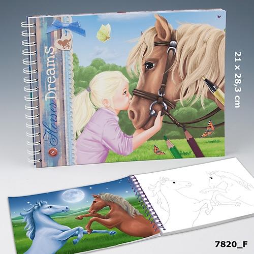 Horses Dreams Målarbok (F)