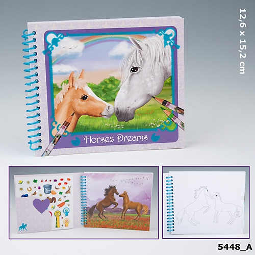 Fickmålarbok Horses Dreams (A)