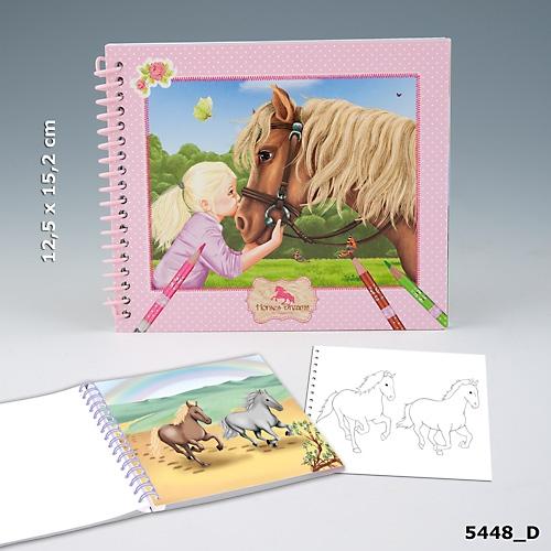 Fickmålarbok Horses Dreams med hästmotiv