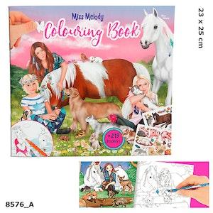 Miss Melody Målarbok med djur