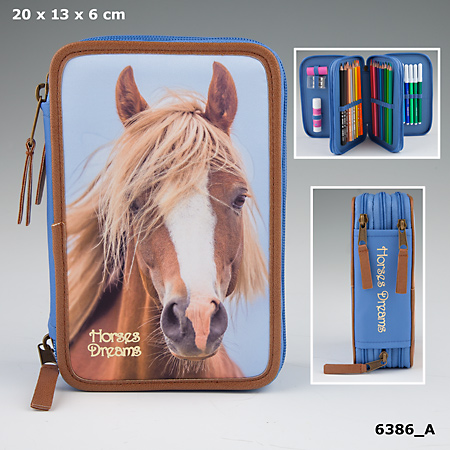 Horses Dreams Trippel Pennskrin Ljusblå