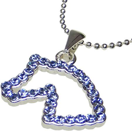 Halsband Brilliant Blå med hästmotiv