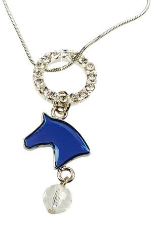 Halsband hästhuvud blå