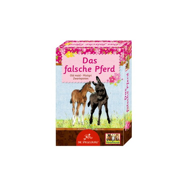 Kortspel Svarte Petter med hästmotiv från Die Spiegelburg