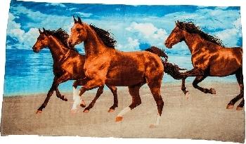 Badhandduk Tre hästar