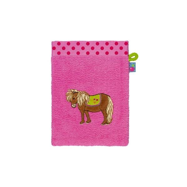 Tvätthandduk med hästmotiv