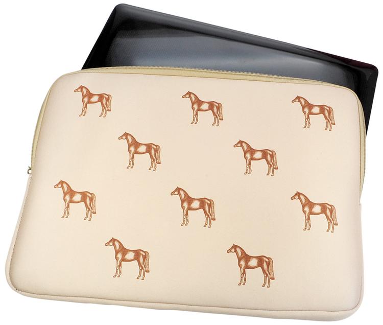 Neoprene Laptop väska med hästmotiv