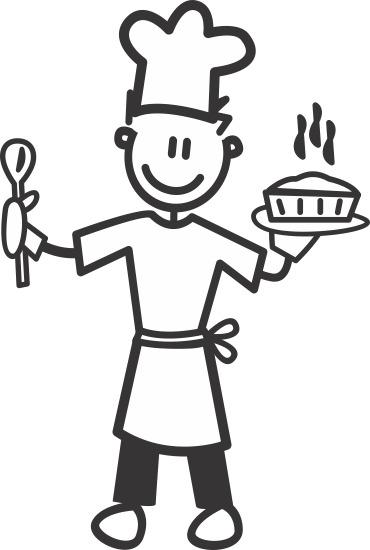 Pappa lagar mat -The sticker family - dekaler i unika karaktärer