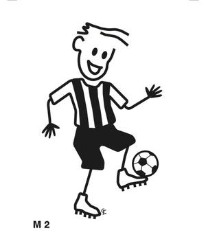 Man spelar fotboll
