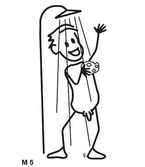 Man i duschen