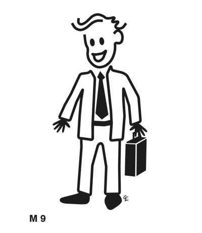 Affärsman – Funky Family – dekaler i unika karaktärer