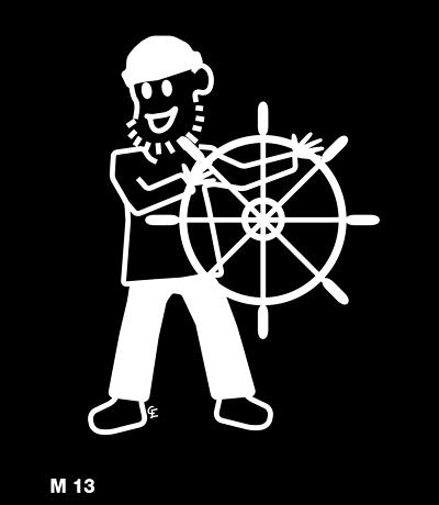 Man seglar – Funky Family – dekaler i unika karaktärer